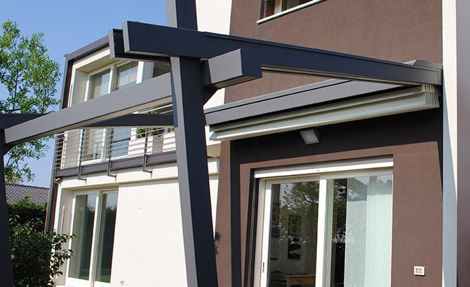 Produzione tende da interno ed esterno tappezzeria del garda - Strutture in alluminio per esterno ...